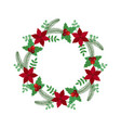 christmas holiday wreath icon vector image