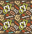 colorful seamless doodle art pattern vector image