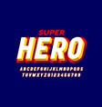 comics superhero style font alphabet letters vector image vector image