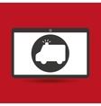 computer digital healthcare ambulance vector image