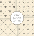 Crown icons set seamless pattern art vector image vector image