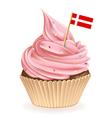 Danish Cupcake vector image vector image