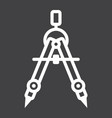 divider line icon architect and geometry vector image