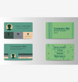 elegant template luxury business card with modern vector image vector image