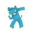 elephant standing in dub dancing pose cute vector image