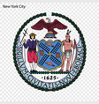 emblem new york vector image