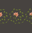 embroidery floral border pattern vector image vector image