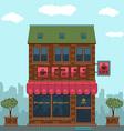 Facade cafe vector image vector image