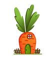 fairytale house fantasy carrot house housing vector image vector image