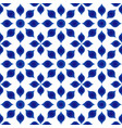 flower blue pattern vector image vector image