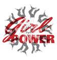 girl power hand drawn pretty vector image