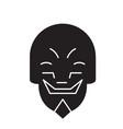 grimacing mask emoji black concept icon vector image