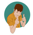 guy showing approving gesture with his hands pop vector image