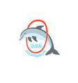 hand drawing sketch icon dubai dolphinarium vector image