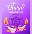 happy diwali 2017 wish vector image vector image