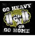 Heavy dumbbell in hand Modern grunge style vector image vector image