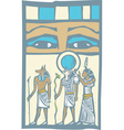 Hieroglyph Eyes vector image vector image