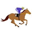 jockey riding race horse 3 vector image vector image