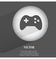 joystick Flat modern web button with long shadow vector image