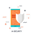 mobile security flat concept vector image vector image