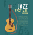 music festival invitation poster placard for live vector image