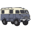 Old terrain wagon vector image vector image
