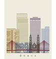 Omaha skyline poster vector image vector image