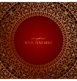 oriental red frame with gold ornament vector image vector image