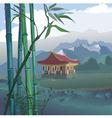 pagoda at the river vector image