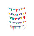 party flags vector image vector image