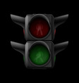 Pedestrian traffic light vector image