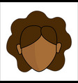 people avatar face women icon vector image vector image