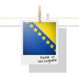 photo of bosnia and herzegovina flag vector image vector image