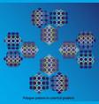 polygon pattern vector image vector image