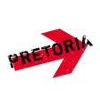 pretoria rubber stamp vector image vector image