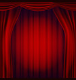 red theater curtain theater opera or vector image