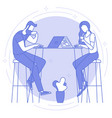 remote work and freelance vector image vector image