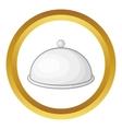 Restaurant cloche icon vector image vector image