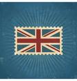 Retro United Kingdom Flag Postage Stamp vector image vector image