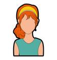 retro woman cartoon vector image