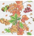 Seamless autumnal pattern with leaves chestnuts vector image vector image
