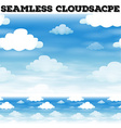 Seamless clouds floating in the sky vector image vector image