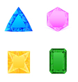 set blue pink yellow green jewels vector image