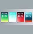 set colorful gradient cover with halftone vector image vector image