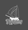 set yachting badges and logos vector image
