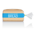 sliced white bread loaf visual in clear bag vector image vector image