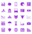 stock market gradient icons on white background vector image