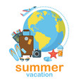 summer vacation flat poster vector image vector image
