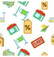 Supermarket pattern cartoon style vector image vector image