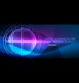 techno globe concept neon glow planet vector image vector image
